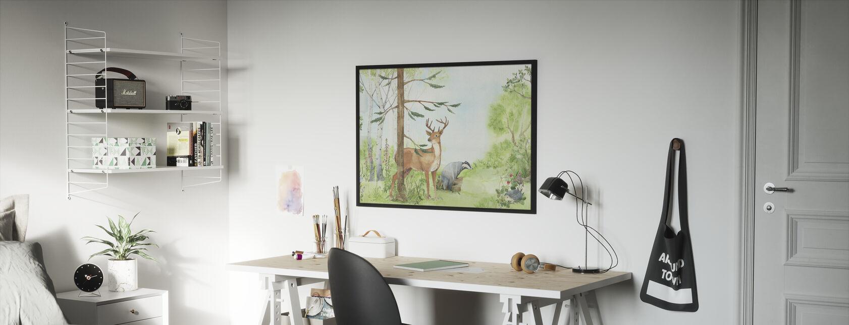 Forest Animal Friends - Framed print - Kids Room