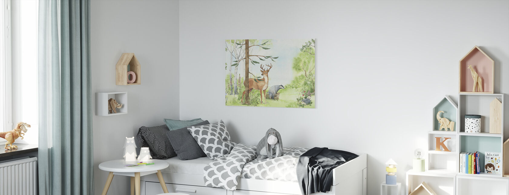 Forest Animal Friends - Canvas print - Kids Room