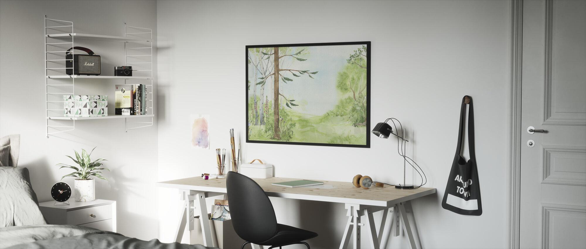 Forest Pathway - Framed print - Kids Room
