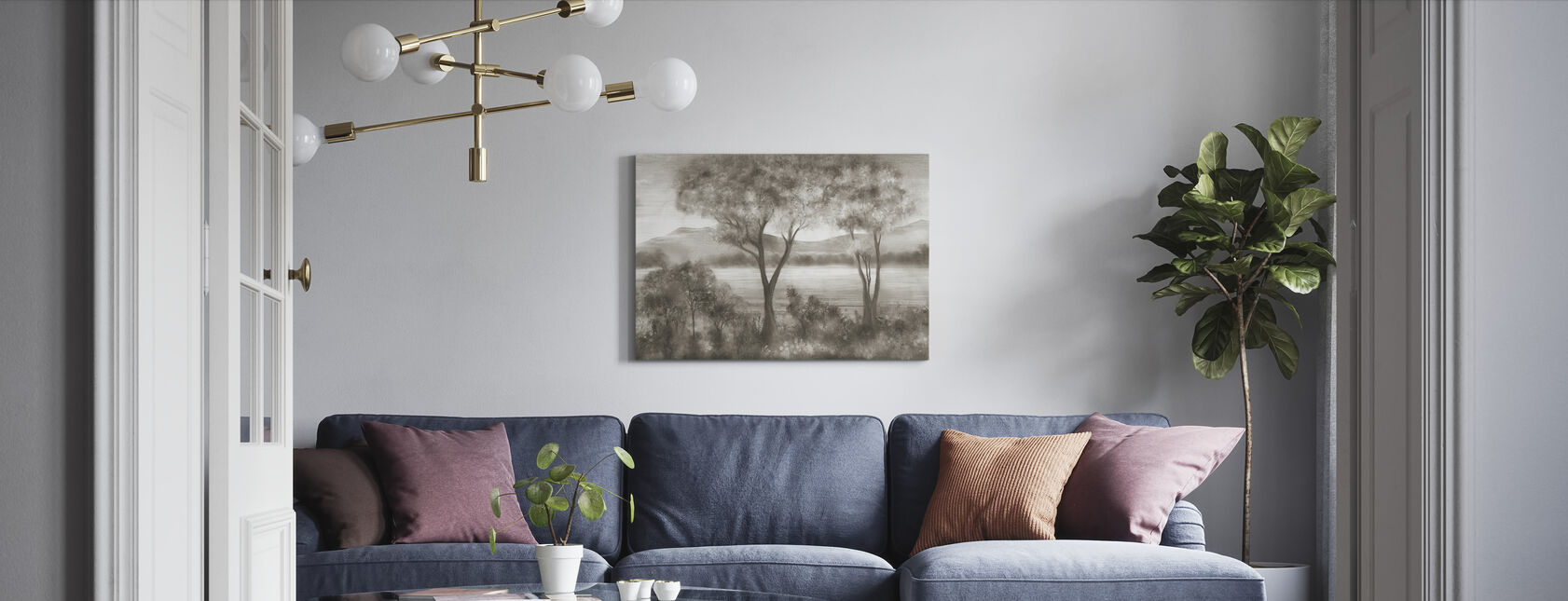 Lay of the Land - Canvas print - Living Room
