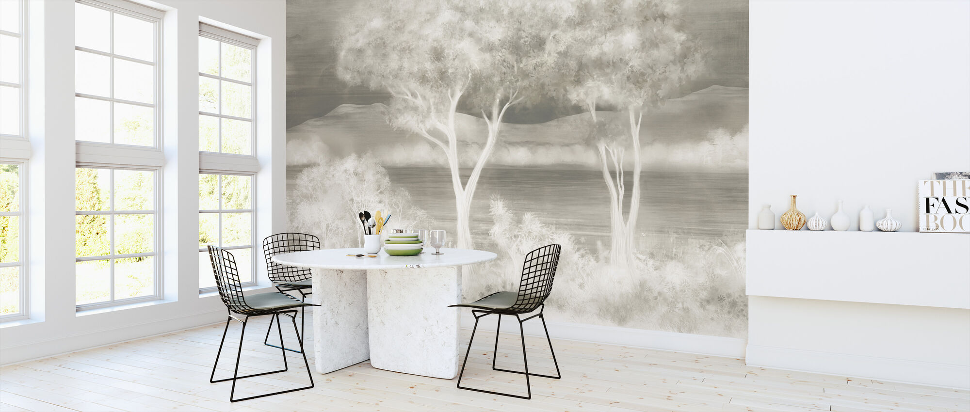 Lay of the Land - Silver - Wallpaper - Kitchen