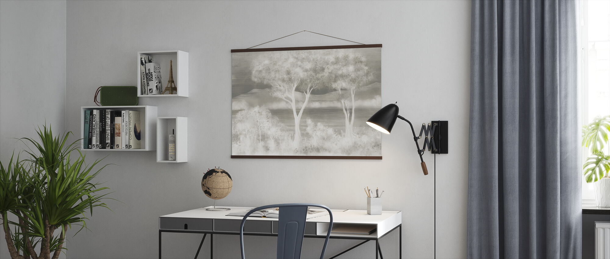 Lay of the Land - Silver - Poster - Office