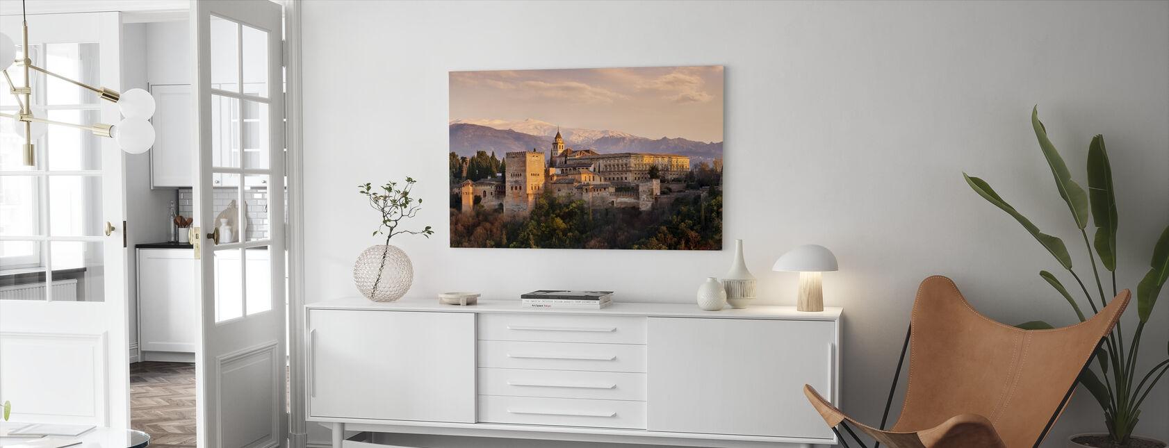 Alhambra in Granada - Canvas print - Living Room