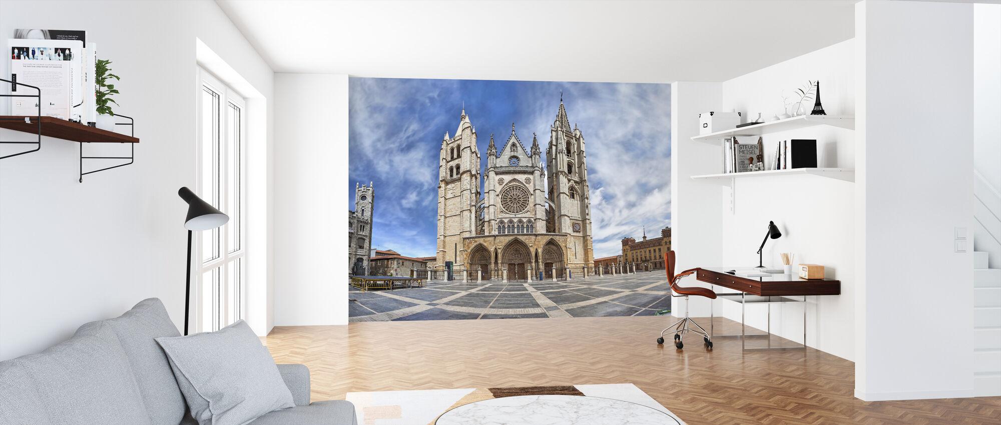 Plaza de Regla and Leon Cathedral - Wallpaper - Office