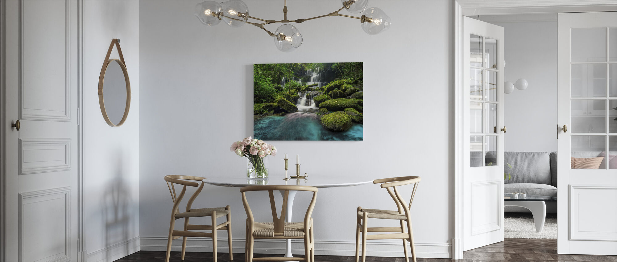 Waterval in het Groene Woud - Canvas print - Keuken