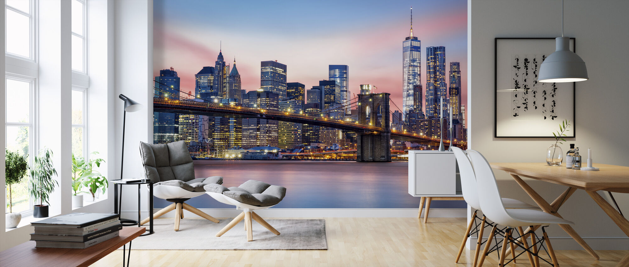 Lower Manhattan Skyline - Wallpaper - Living Room