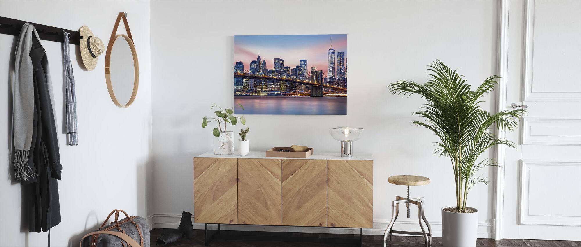 Lower Manhattan Skyline - Lerretsbilde - Gang