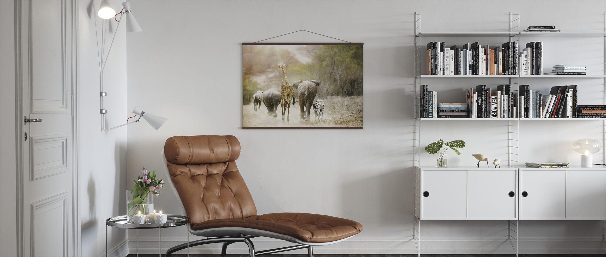Afrika Safari Djur - Poster - Vardagsrum