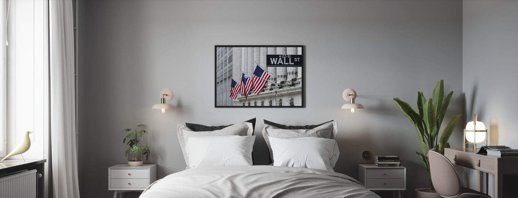 New York Wall Street - Framed print - Bedroom