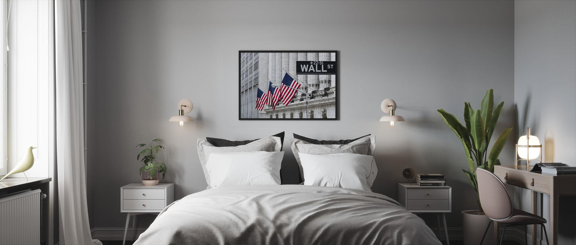 New York Wall Street - Innrammet bilde - Soverom