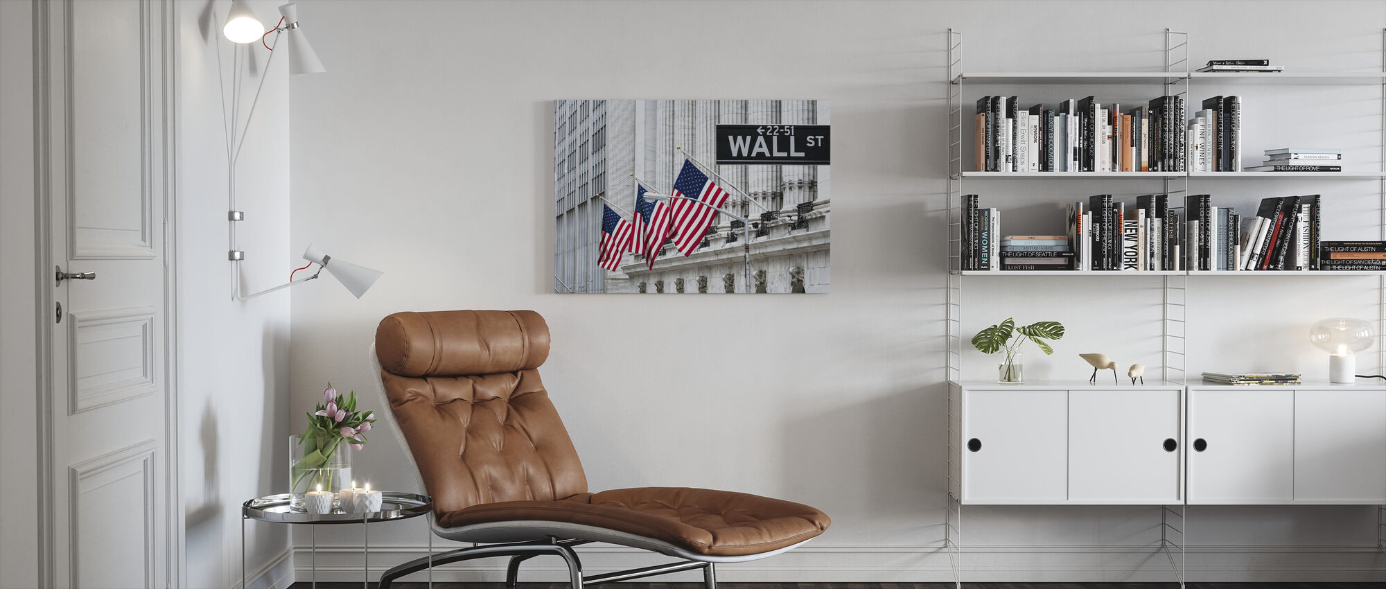 New York Wall Street - Canvas print - Living Room