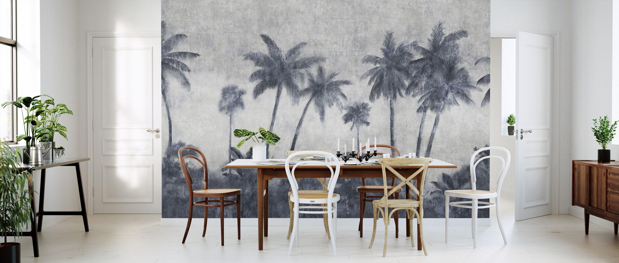California Palmes op beton - Behang - Keuken
