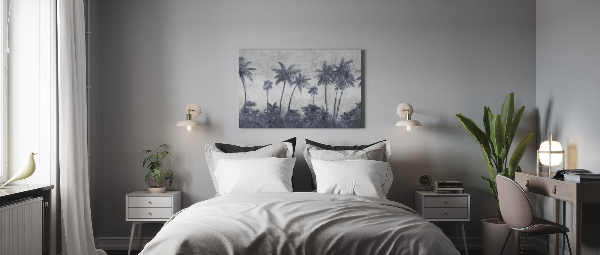 California Palmes on Concrete - Canvas print - Bedroom
