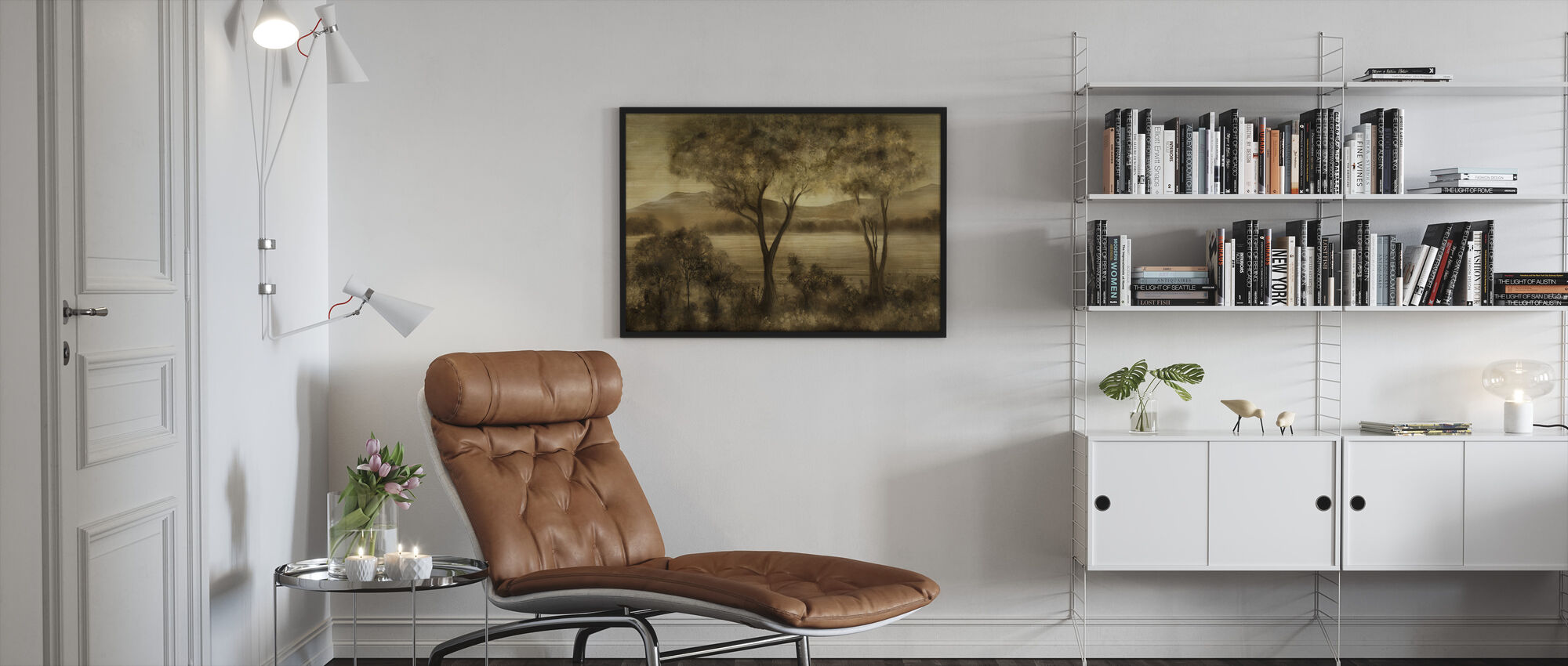 Lay of the Land - Amber - Framed print - Living Room