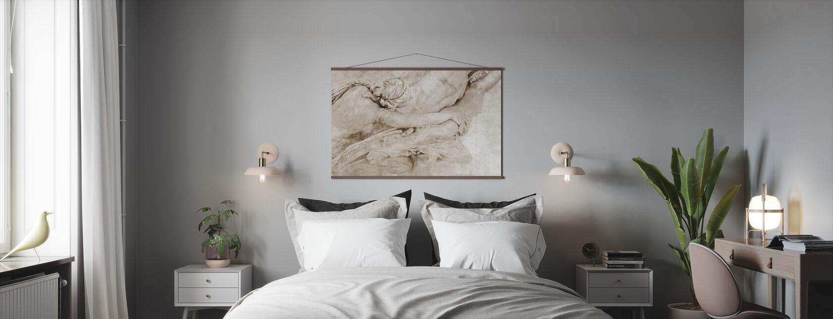 Van het beeldhouwwerk - Sepia - Poster - Slaapkamer