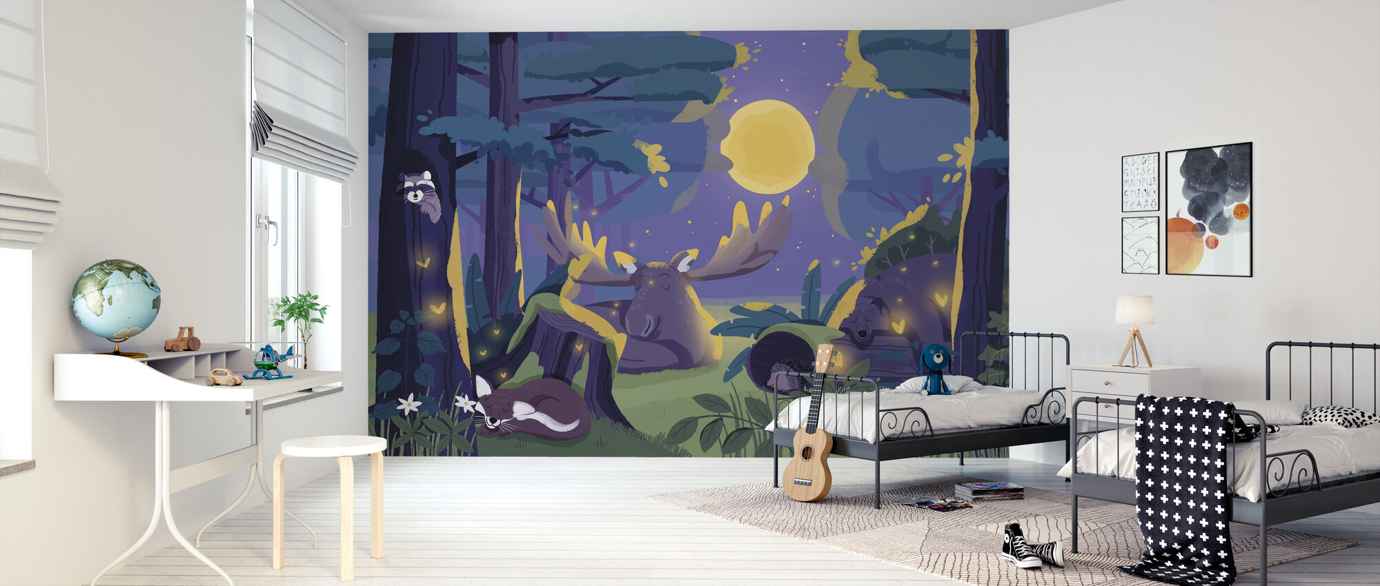 Sleepy Forest - Wallpaper - Kids Room
