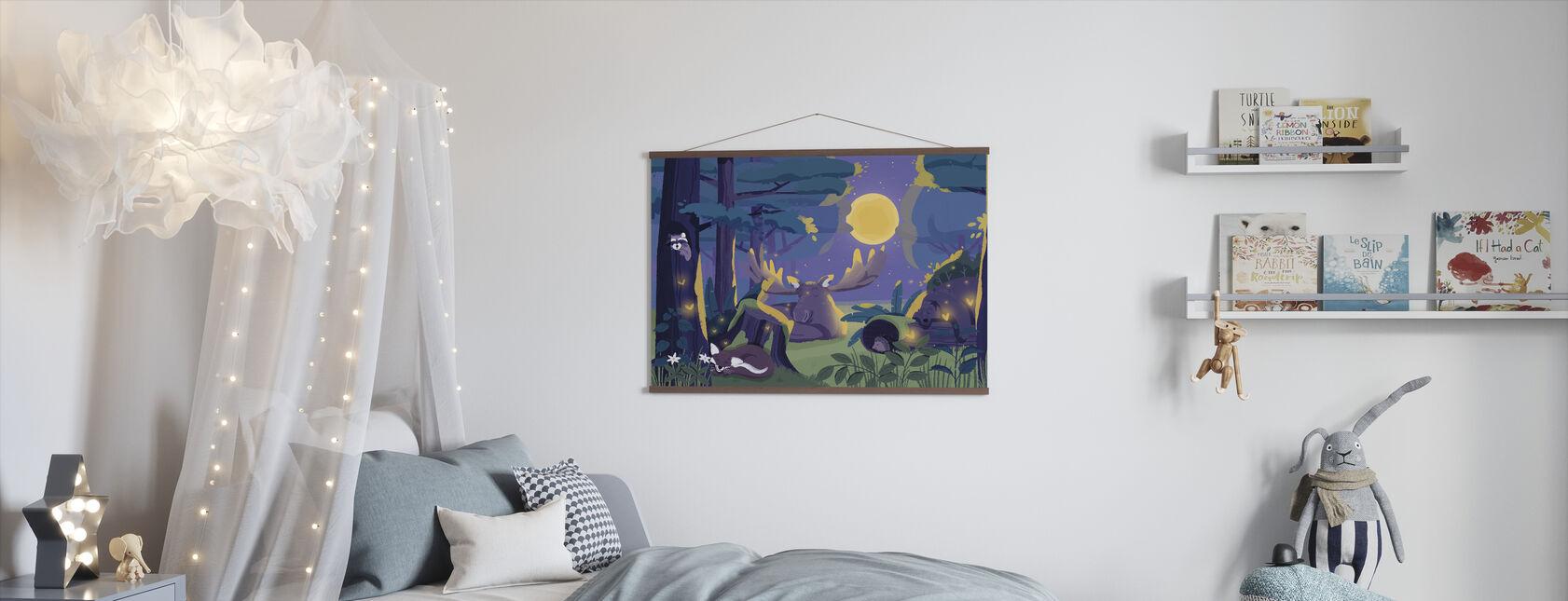 Sleepy Forest - Poster - Kids Room