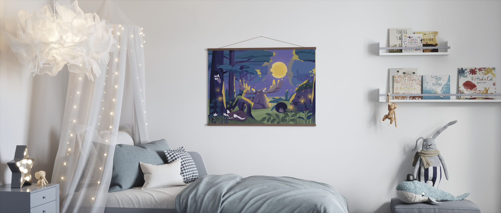 Sleepy Forest - Poster - Kids Room