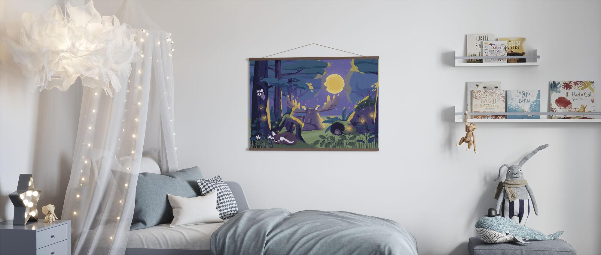 Sömnig skog - Poster - Barnrum