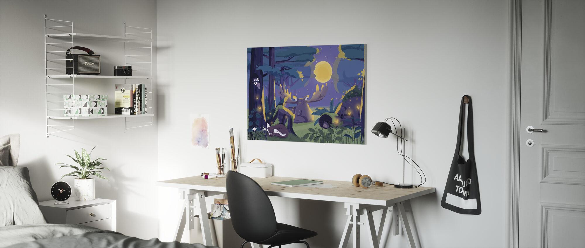 Sleepy Forest - Canvas print - Kids Room