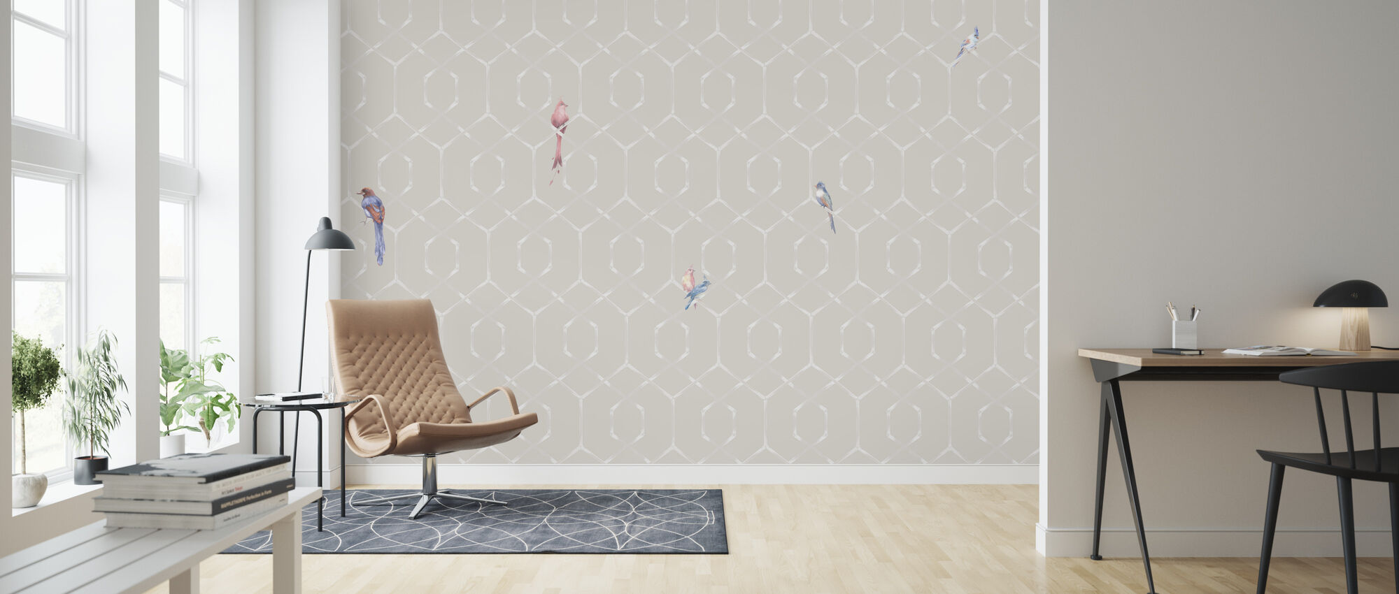 Scalet´s Bamboo Web - Powder Pink - Wallpaper - Living Room