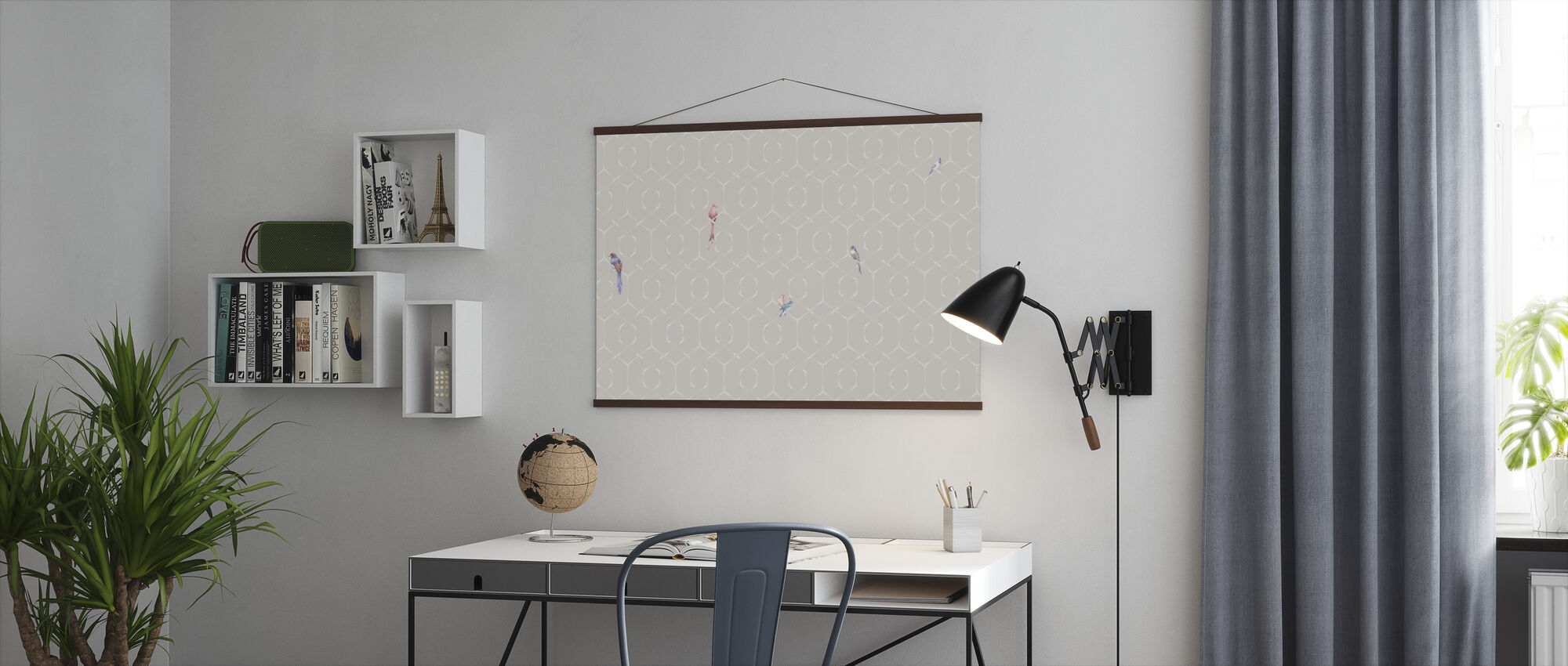 Scalet´s Bamboo Web - Powder Pink - Poster - Office