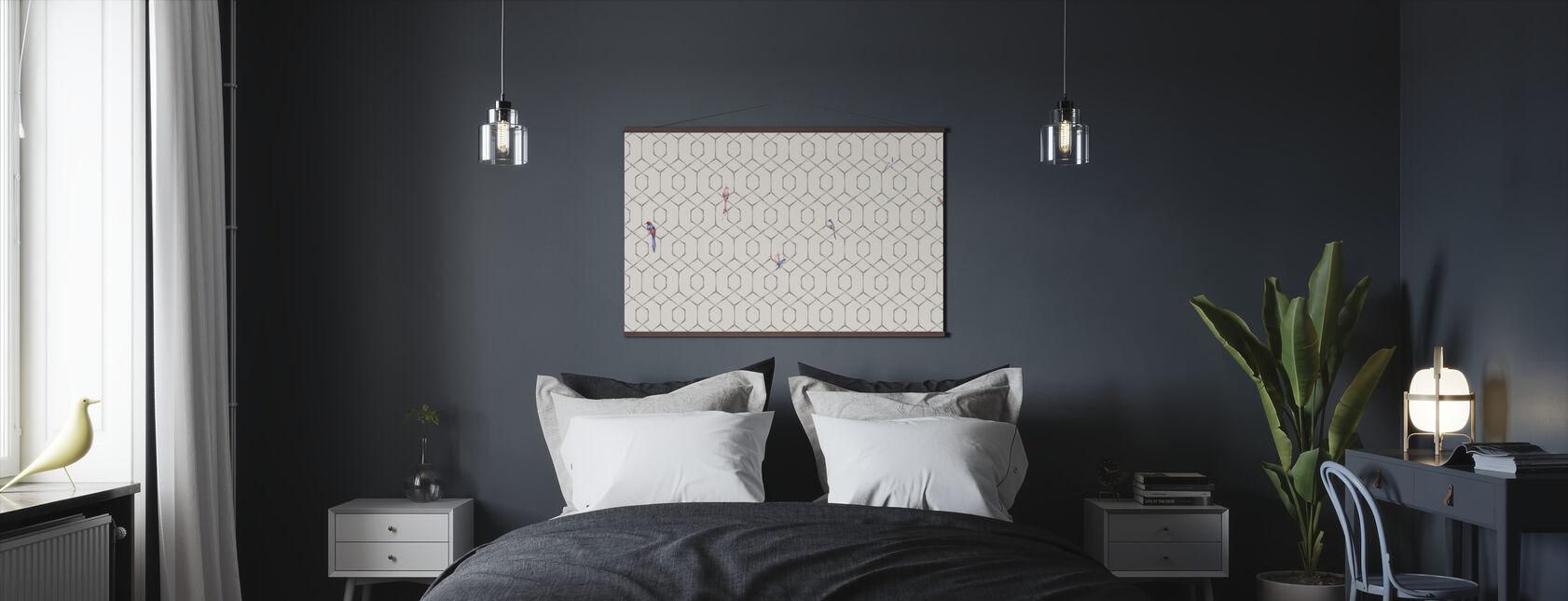 Scarlet´s Bamboo Web - Cream - Poster - Bedroom