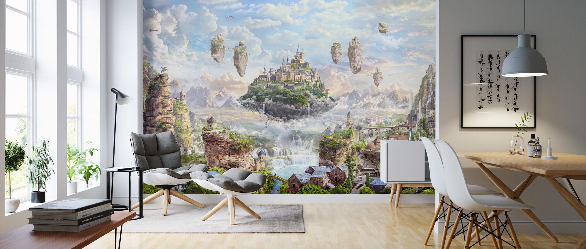 Sky Castle - Wallpaper - Living Room