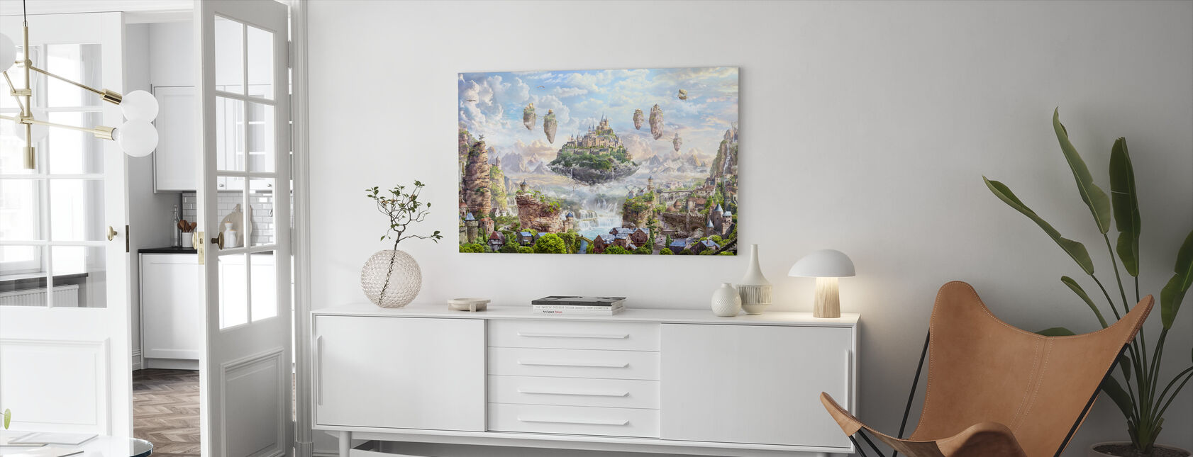 Sky Castle - Canvas print - Living Room