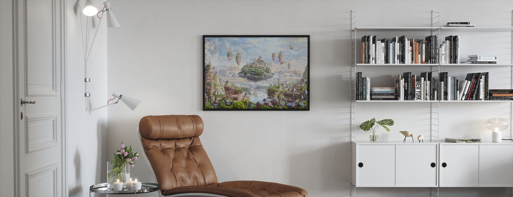 Sky Castle - Framed print - Living Room