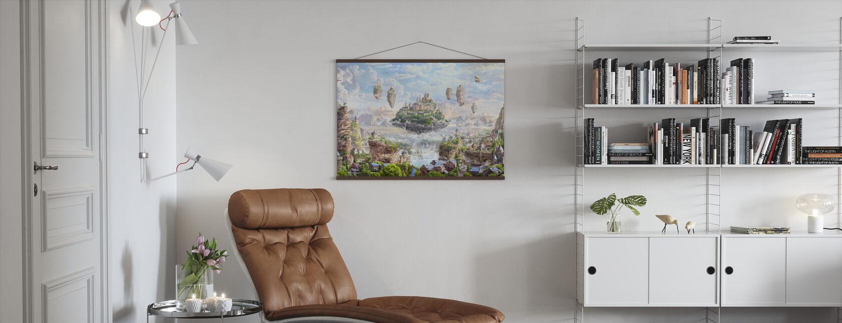 Himmelsschloss - Poster - Wohnzimmer