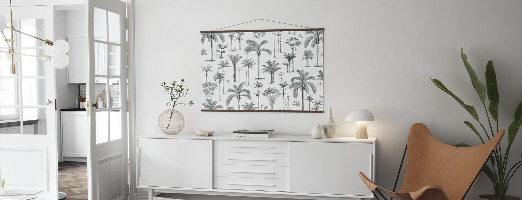 Brasilianske palmer - askegrøn - Plakat - Stue