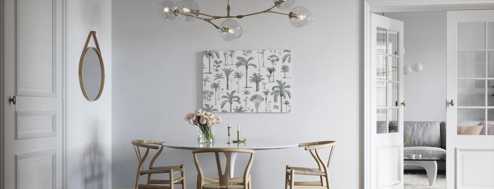 Brazilian Palms - Ash Green - Canvas print - Kitchen