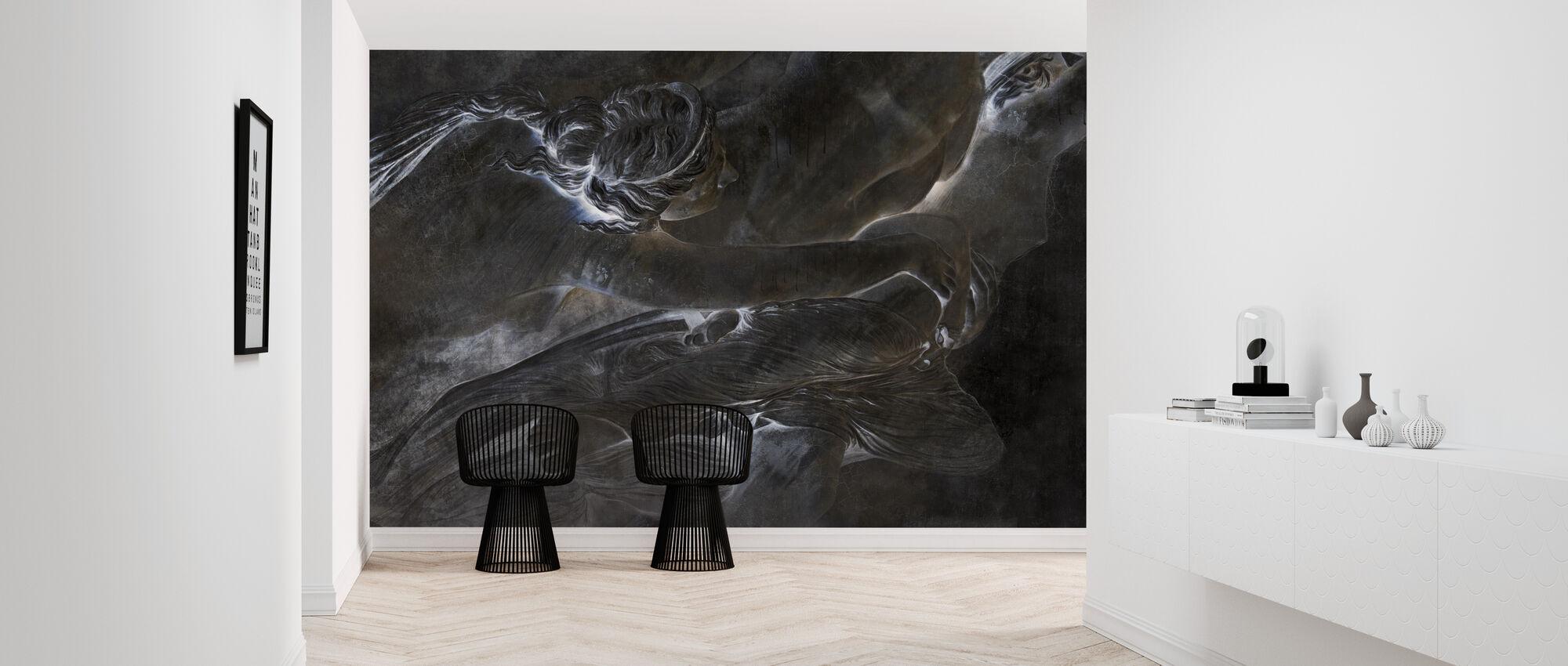 Of the Sculpture - Dark - Wallpaper - Hallway