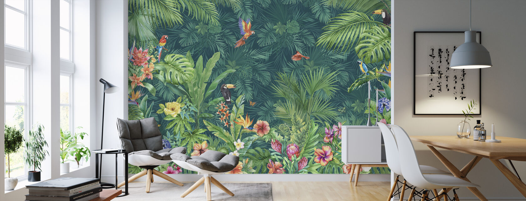 Tropische harmonie - Behang - Woonkamer