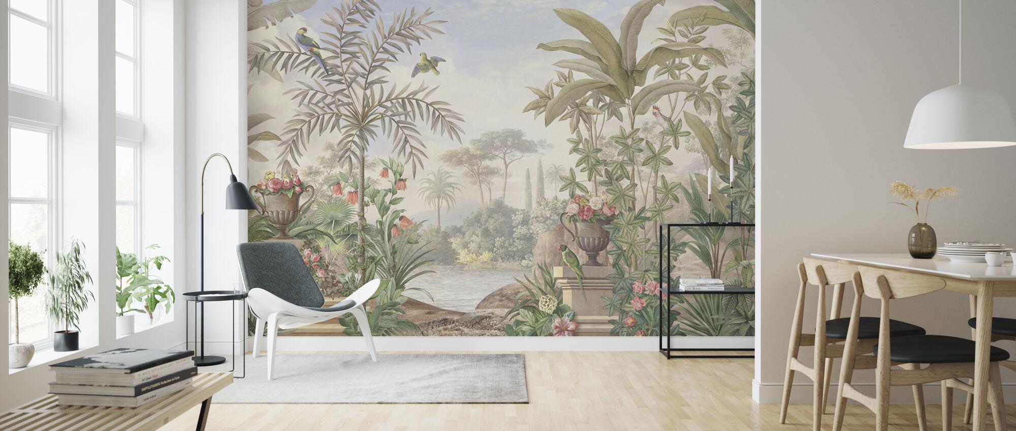 Tropisk terrasse - Tapet - Stue