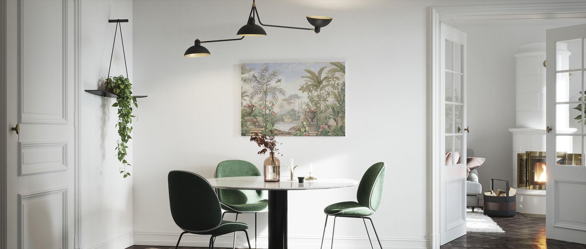 Tropical Patio - Canvas print - Kitchen