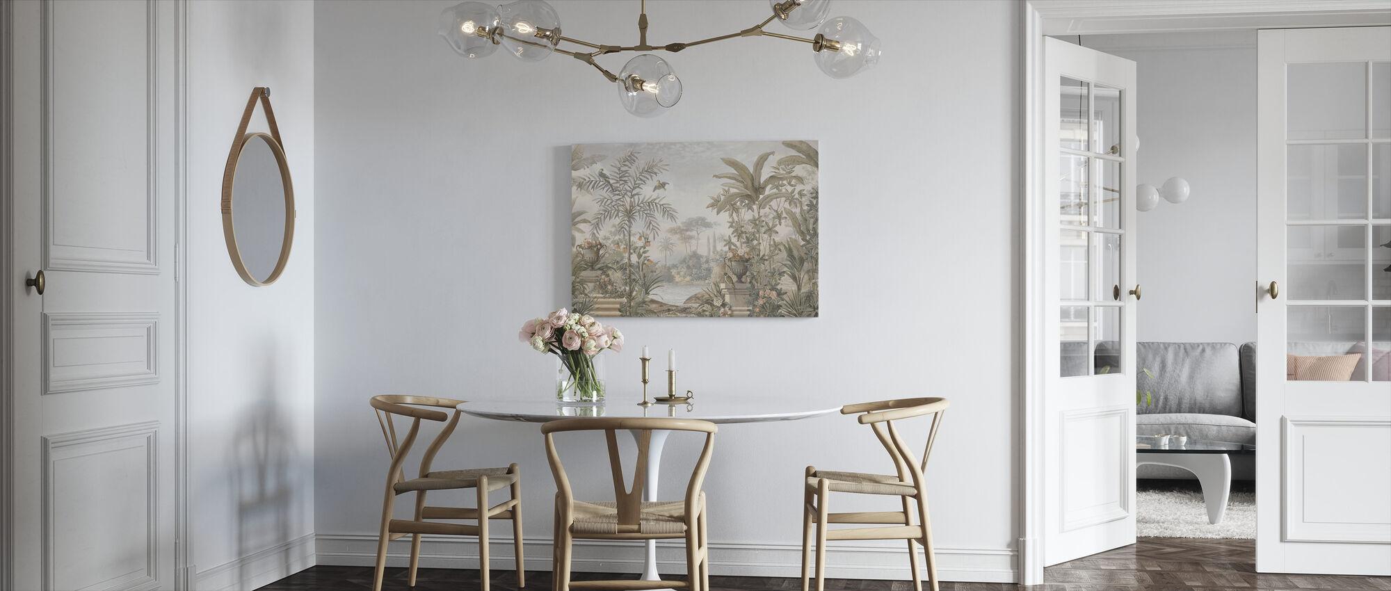 Tropical Patio - Sepia - Canvas print - Kitchen