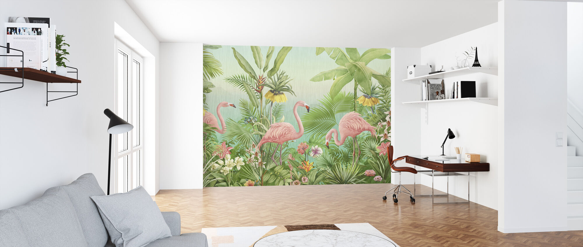 Flamingo Eden - Wallpaper - Office