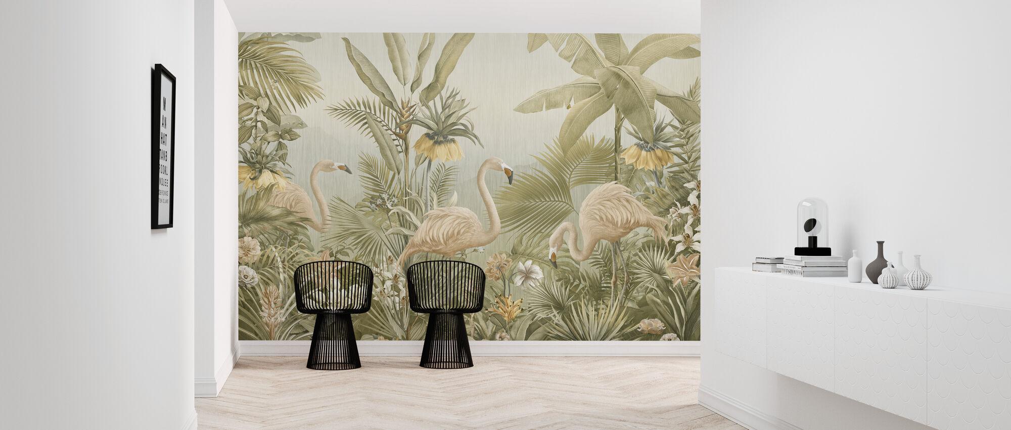 Flamingo Eden - Seepia - Tapetti - Aula