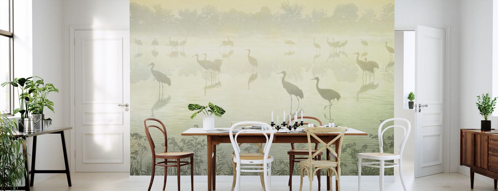 Flock vid skymningen - Hazel - Tapet - Kök