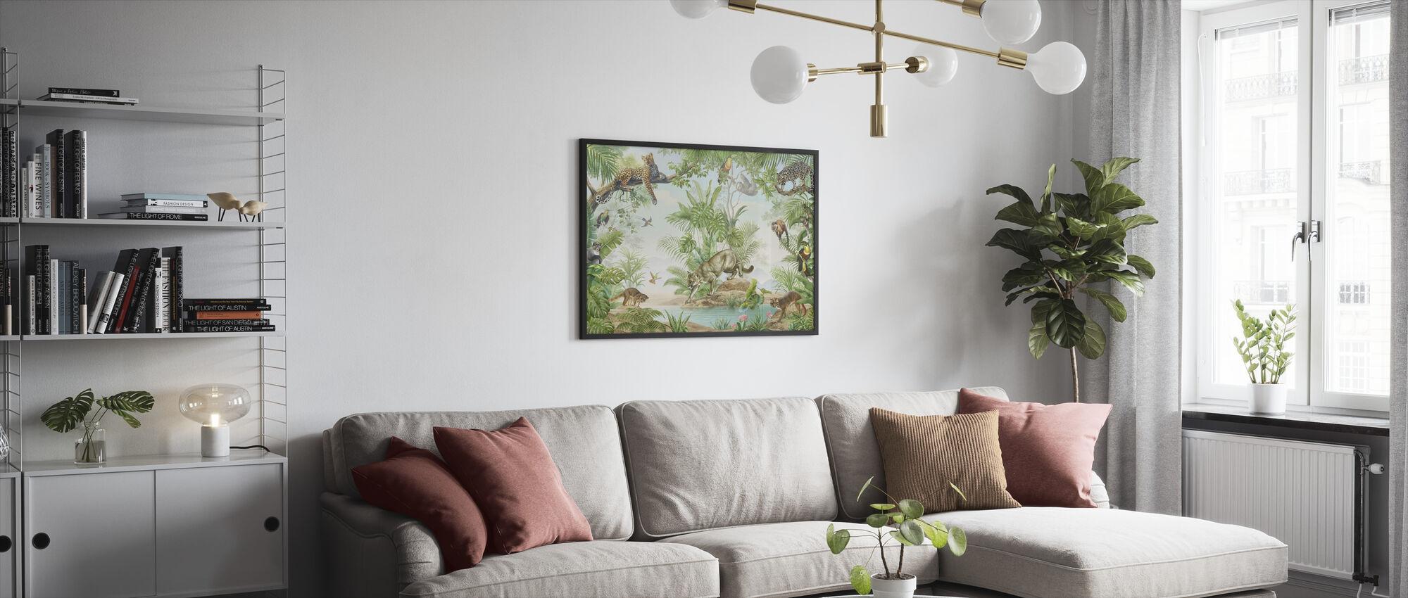 Jungle Hangout - Framed print - Living Room