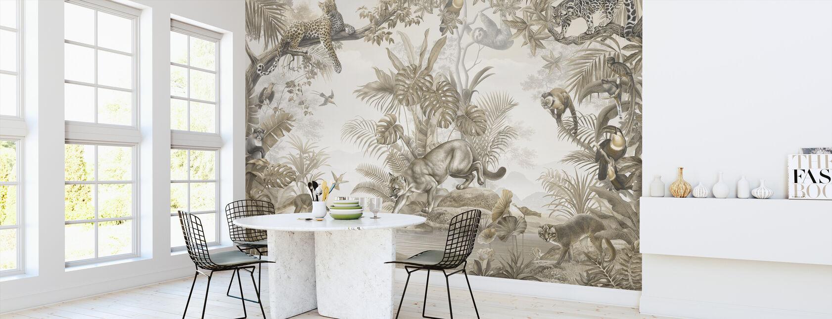 Jungle Hangout - Sepia - Tapet - Køkken