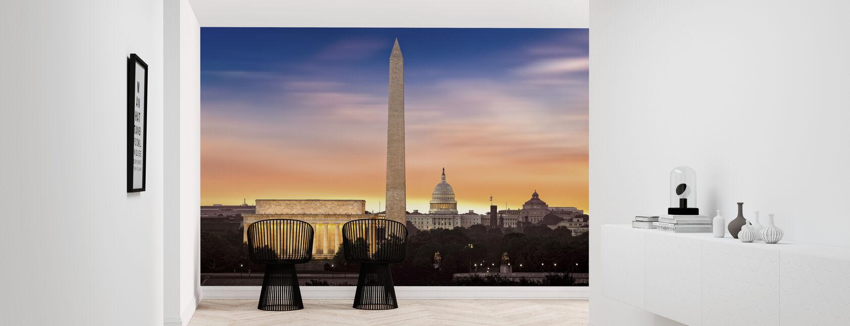 Dawn at Washington Monument - Wallpaper - Hallway