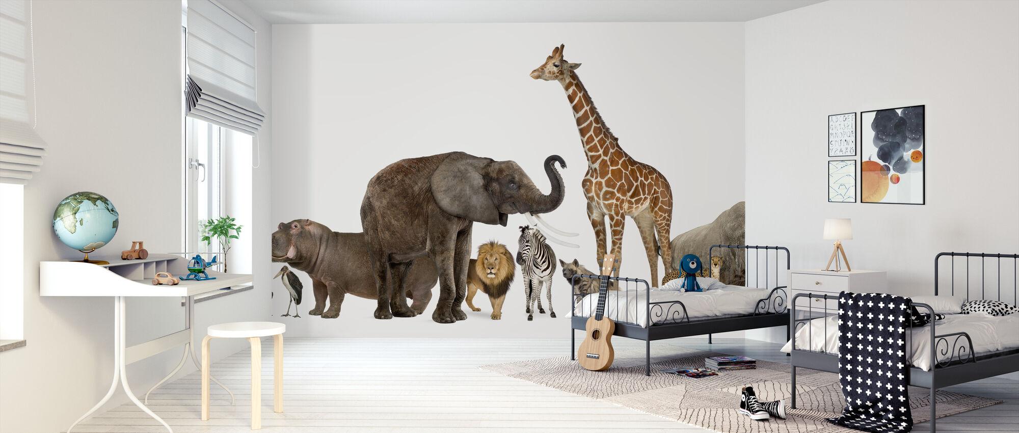 Collection of Wildlife Animals - Wallpaper - Kids Room