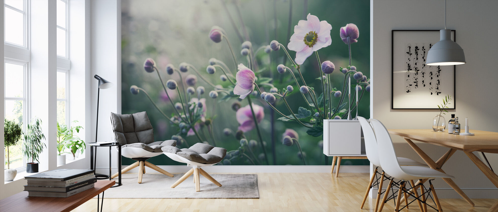 Anemone Kukkia Kukassa - Tapetti - Olohuone
