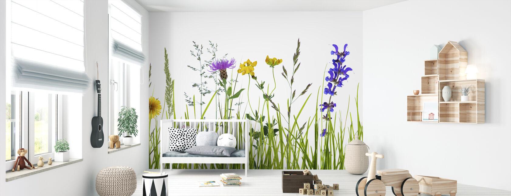 Wildflower Meadow - Wallpaper - Nursery