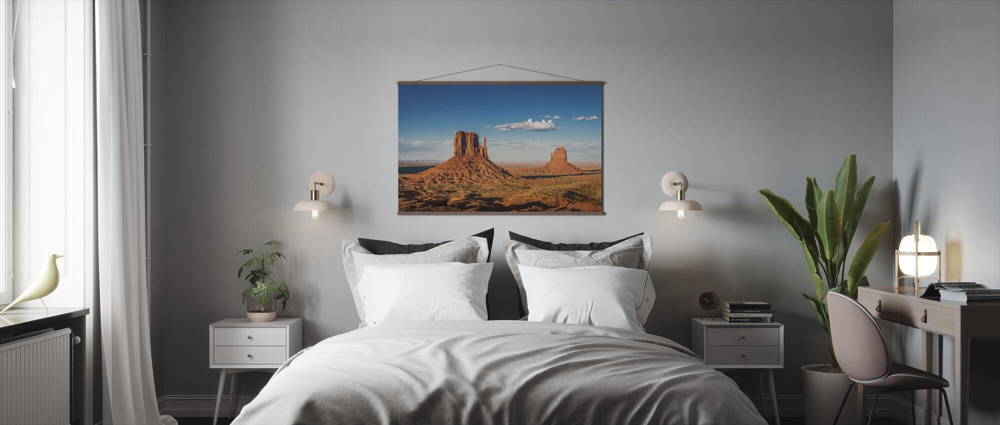 West- en Oost-wanten Buttes - Poster - Slaapkamer