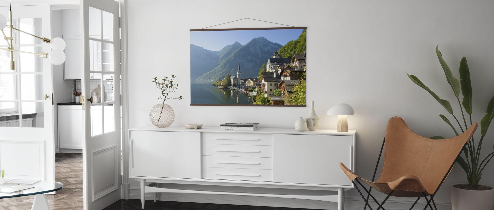 Hallstatt stad vid sjön - Poster - Vardagsrum