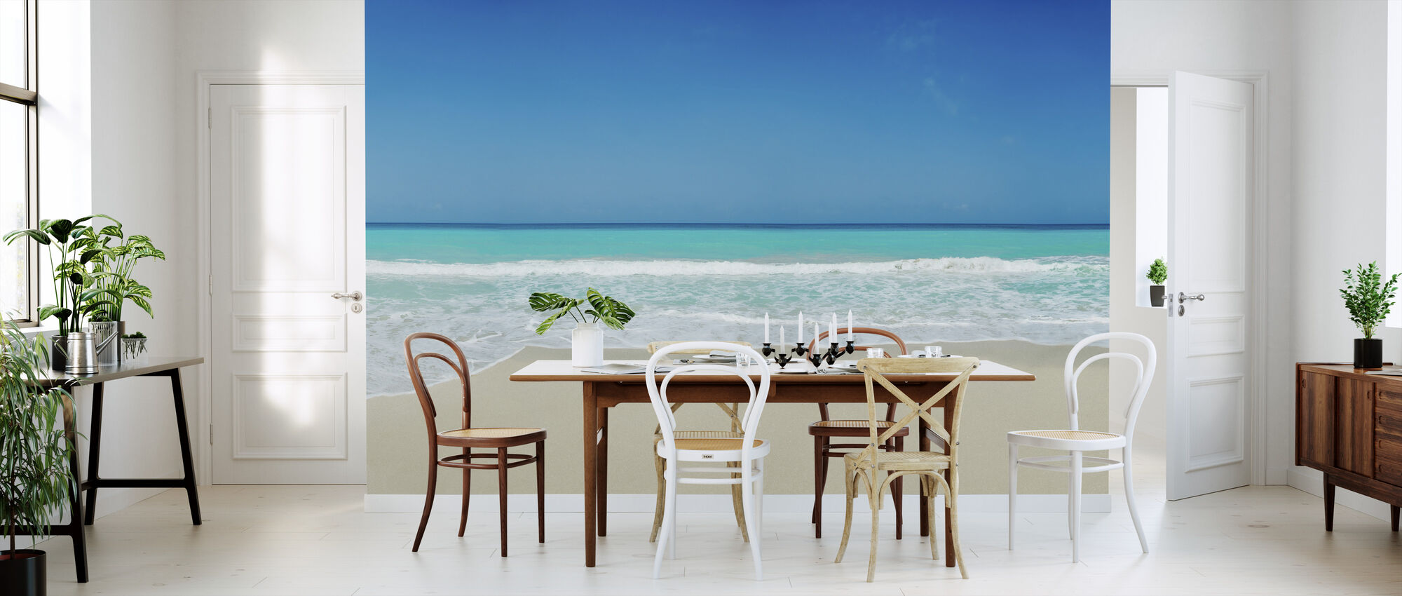White Sand Beach - Wallpaper - Kitchen